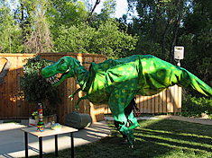 dinosaur theme party at Turtle Bay